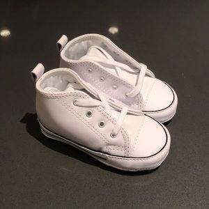 NEVER WORN - white toddler chucks